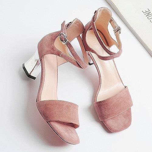 YTTY Sacs à Main en Sandales Et Chaussures à Boucle à L'Oie avec des Chaussures en Argent Haut De Gamme gris Rose Pale 37