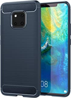 Huawei Mate 20 Pro Case, Soft Lightweight TPU Bumper Cover Carbon Fiber Design anti-Scratch Slim Back Panel Shock aborsption Cellphone Shell Fit with Huawei Mate 20 Pro 6.39 Inch