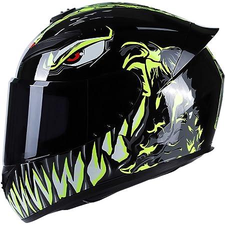 GoolRC Casco de Moto Rading Moda de Cara Completa Ligero para Carreras de Motos,Talla M