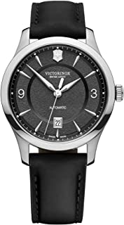 Victorinox - Hombre Alliance - Reloj de Acero Inoxidable/Cuero de Cuarzo analógico de fabricación Suiza 241869