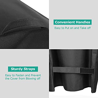 SunPatio Grill Cover 55 Inch, Outdoor Heavy Duty Waterproof Barbecue Gas Grill Cover, UV and Fade Resistant, All Weather Prot