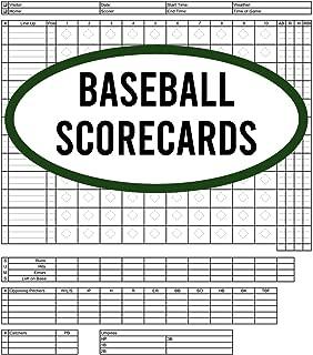 Baseball Scorecards: 120 Pages Baseball Score Sheet, Baseball Scorekeeper Book, Baseball Scorecard