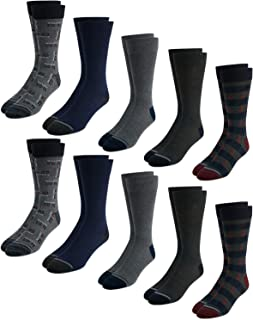 Nautica Mens' Fashion Dress Socks with Moisture Wicking Technology (10 Pack)