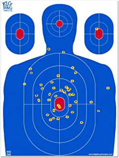 Big Dawg Targets - 18 X 24 Inch Blue Silhouette Reactive Splatter Target