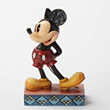 """Disney Traditions by Jim Shore Mickey Mouse Personality Pose Stone Resin Figurine, 4.875"""""""