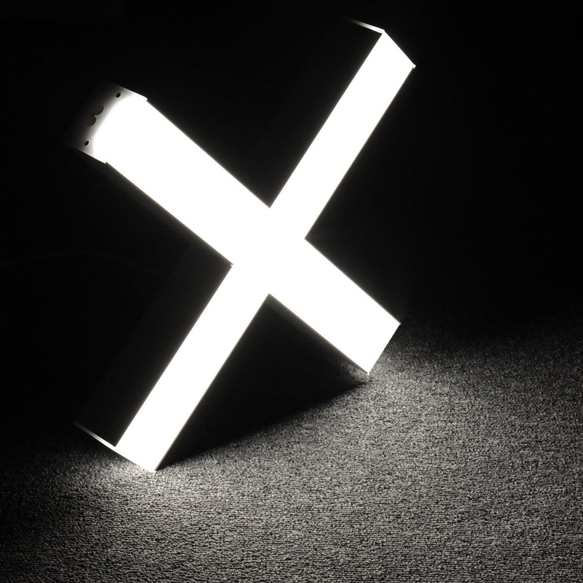 Lagute LEDGo DIYリニアモジュールLEDライトおよび電源コード、1.8m自由に設定可能なDIY照明オフィス、ガレージ、ワークショップ用の照明器具、吊り下げ式の壁掛けデイライト5000K-クールホワイト[X] 20W