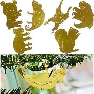 Flying Tiger Miniature Garden Accessories - Plant Decorations for Pots House Plants - 6 Pcs Brass Animal Plant Hanger - Pl...