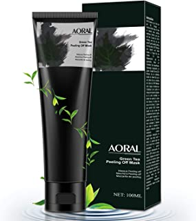 Green tea mask, blackhead mask, peel off mask, green tea peeling mask, deep cleansing blackhead remover anti acne oil control cleaning activated carbon remover deep cleansing facial -2020 new formula