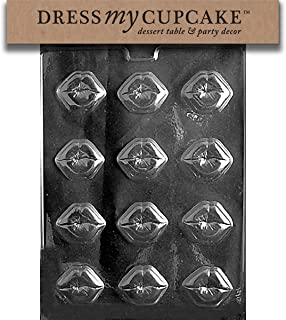 Dress My Cupcake Chocolate Candy Mold, Kiss Lips, Valentine's Day