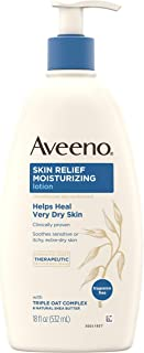 Aveeno Skin Relief 24-Hour Moisturizing Lotion for Sensitive Skin with Natural Shea..
