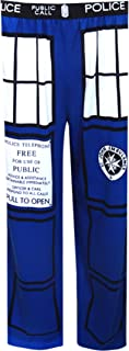 WebUndies.com Doctor Who Tardis Royal Blue Mens Lounge Pants