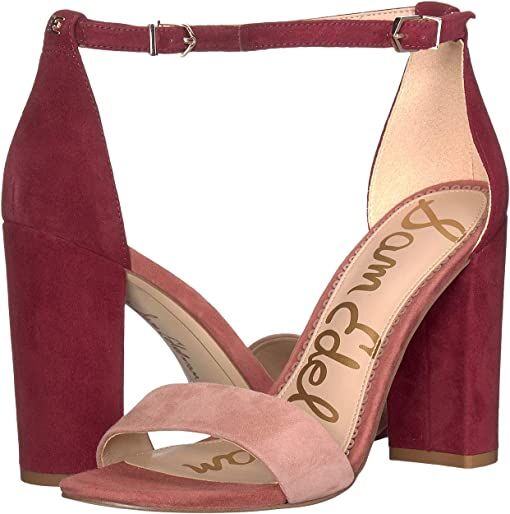Cameo Pink/Cabernet Suede Leather