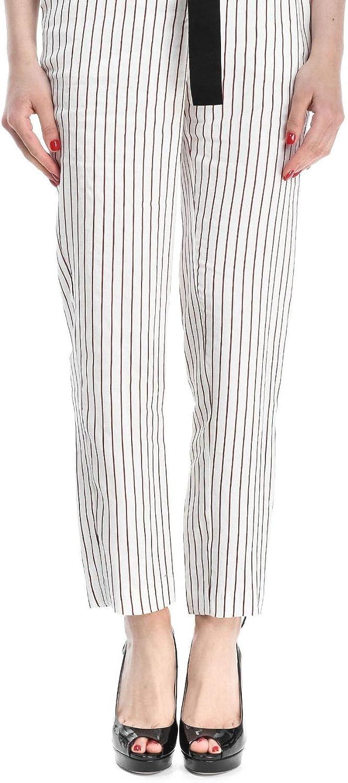 MANILA GRACE Women's P563VIMG999 White Viscose Pants