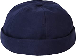WITHMOONS Watch Cap Beanie Cotton Docker Brimless Harbour Hat VZ50060