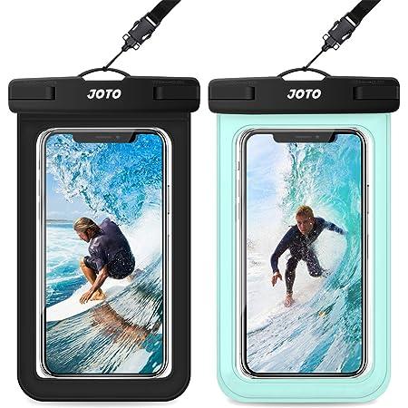 "JOTO 2 Fundas Impermeables Universales para Celulares, Bolsa Sumergible para iPhone 12 Mini/Pro/XS MAX/XR/8 Plus/7 Plus, Galaxy S20+/10+/S10e/S9/S8+/Note 9, Xiaomi Huawei hasta 6.9"" -Negro+Verde"