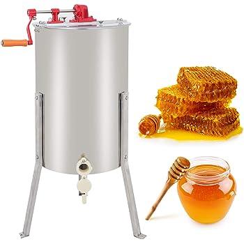 ZENY Pro 2 Frame Stainless Steel Manual Crank Bee Honey Extractor Honeycomb Spinner Drum, Heavy Duty Beekeeping Equipment Commercial