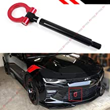 Cuztom Tuning Fits for 2016-2019 Chevy Camaro LS LT SS ZL1 Black Red Bumper Folding Ring Screw on Type Tow Hook