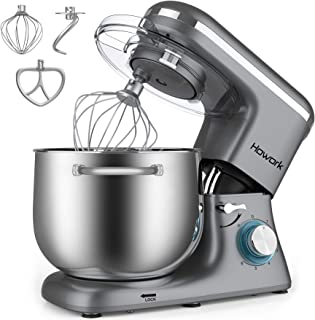 HOWORK Stand Mixer, 8.45 QT Bowl 660W Food Mixer, Multi Functional Kitchen Electric Mixer With Dough Hook, Whisk, Beater (...