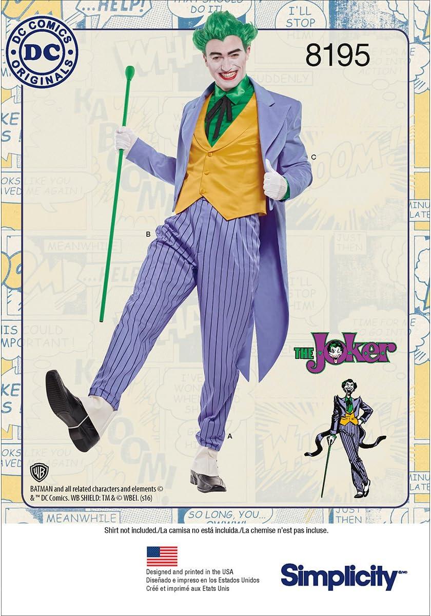 Ranking TOP6 Simplicity Gifts 8195 DC Comics Men's Halloween Joker and Cosplay Cost