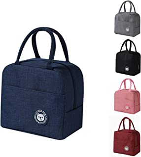AUMA Lunch Tote Bag For Women & Men, Insulated Lunch Box Water-resistant Thermal Lunch Container for Picnic /Boating/ Beac...