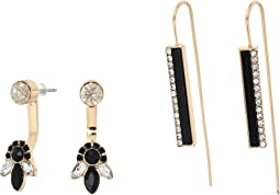 GUESS - 6 Set - Mixed Earrings - Studs, Drop, Front-Back