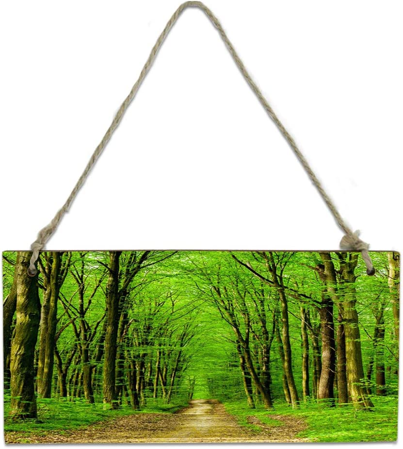 Wood Plaque Wall Sale special price Hanging Sign specialty shop for Kitchen Fo Deep Bathroom Green