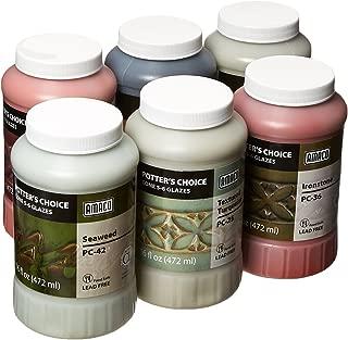 AMACO Potters Choice Lead-Free Glaze Set - B, 1 pt, Assorted Colors, Set of 6 - 39219X