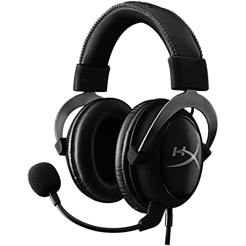 HyperX Cloud II - Gaming Headset, 7.1 Surround Sound, Memory Foam Ear Pads, Durable Aluminum Frame, Detachable Microphone, Works with PC, PS4, Xbox One - Gun Metal