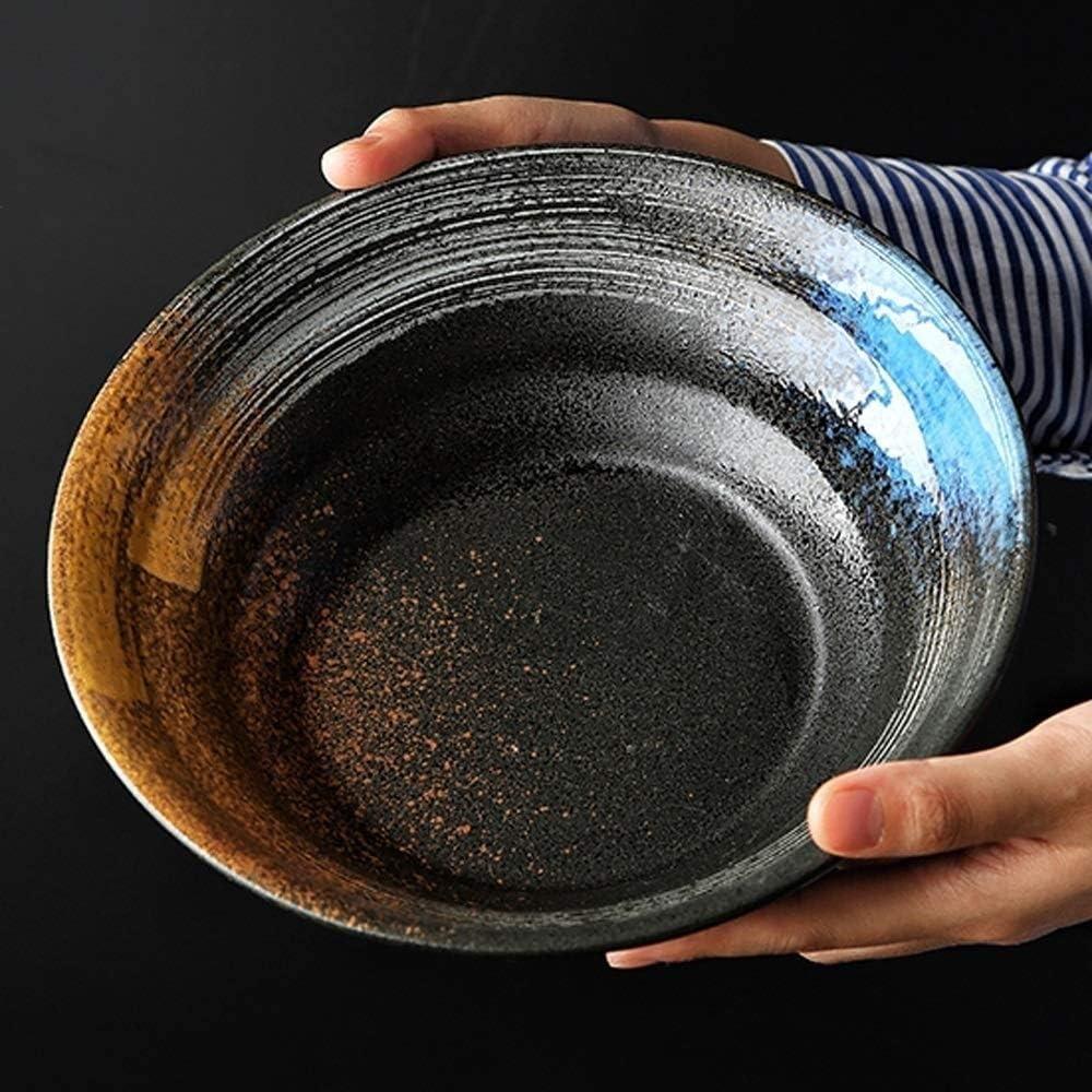 taille : 14 pieces 2-6 personnes ensemble de vaisselle japonaise Services de vaisselle Ensemble de vaisselle en c/éramique r/étro bol /à soupe//bol de riz//assiette//cuill/ère//baguettes