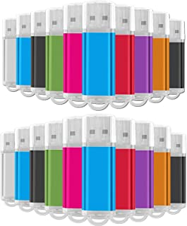 4 جيجابايت السائبة ذاكرة فلاش 20 حزمة، محرك أقراص فلاش إيستبول يو إس بي 2.0 سعة تخزين كبيرة لإبهام التخزين بالجملة (8 ألوا...