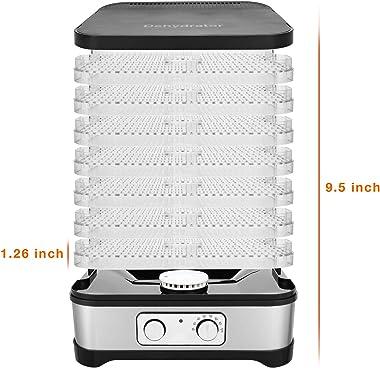 Máquina deshidratadora de alimentos digital con control de temperatura, secador de alimentos, sin BPA, conservador eléctrico
