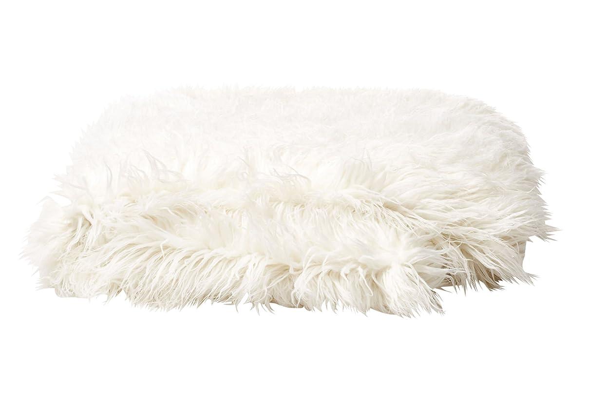 音焦がす封建Tourance Mongolian Fur Throw 標準 ベージュ