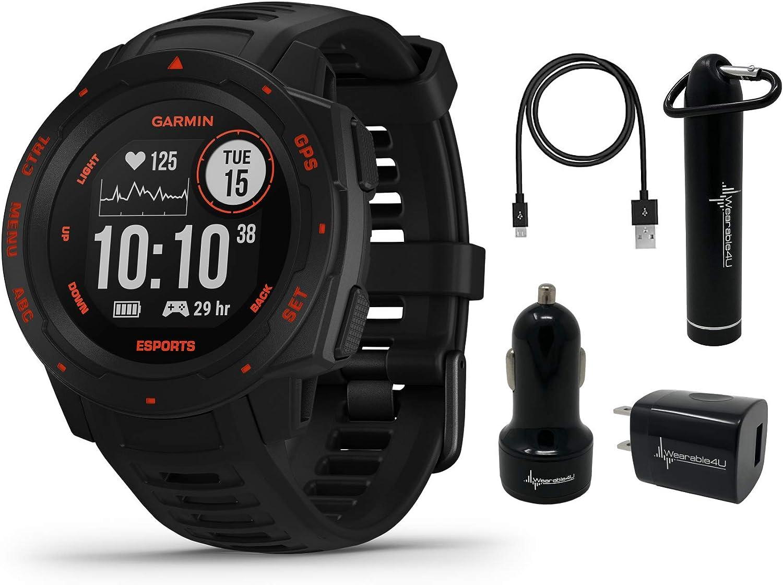 Garmin Instinct Esports 蔵 Edition Black Smartwatc 毎週更新 Rugged GPS Lava