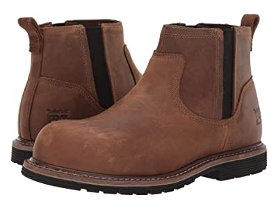 Timberland PRO Millworks Chelsea Composite Safety Toe (Brown Gaucho) Men
