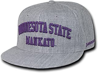 Minnesota State University Mankato Mavericks NCAA Flat Bill Heather Gray Snapback Baseball Cap Hat