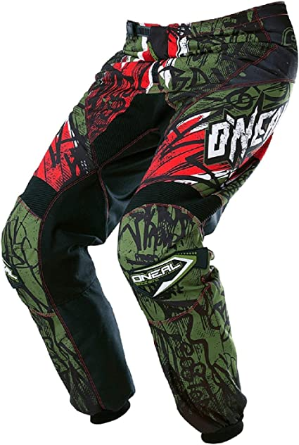 O Neal Element Mx Dh Mtb Trousers Long Vandal Green Red 2017 Oneal Size 34 50 Auto