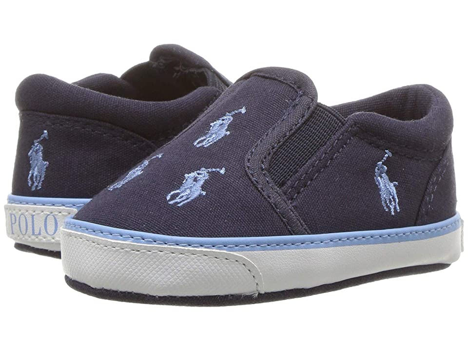 Polo Ralph Lauren Kids Bal Harbour Repeat (Infant/Toddler) (Navy Canvas/Bristol Blue) Boys Shoes