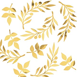 Shiny Gold Foil Paper Leaves for Flowers, Gold Leaves, Paper Leaves, Paper Flower Leaves, Paper Leaf, Paper Flowers Wall, Party, Nursery, Wedding Decor. 14 pcs