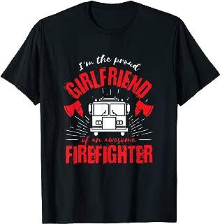 Proud Girlfriend of an Awesome Firefighter Fire Truck Design T-Shirt