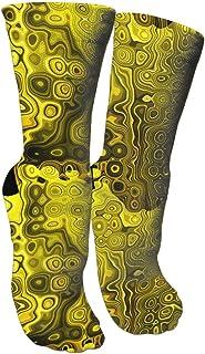 靴下 抗菌防臭 ソックス イエロー、ブラック、ゴールド、ブラウンアスレチックスポーツソックス、トラベル&フライトソックス、塗装アートファニーソックス30 cmロングソックス