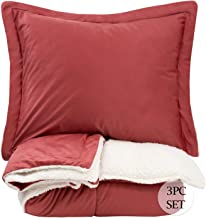 Sweet Home Collection Comforter Set 3 Piece Sherpa Soft and Luxurious Plush All Season Warmth Down Alternative Reversible ...