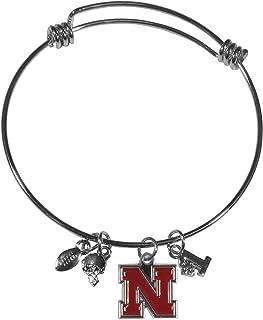 Swamp Fox South Carolina Gamecocks Metal Charm Bracelet Adjustable 7 to 9 with Round Rhinestone Charm