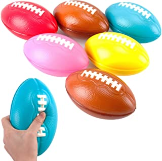 Liberty Imports 6 Pack Foam Footballs for Practice Training, Kids Toy, Yard Game, Indoor Outdoor Sports Play (7.5