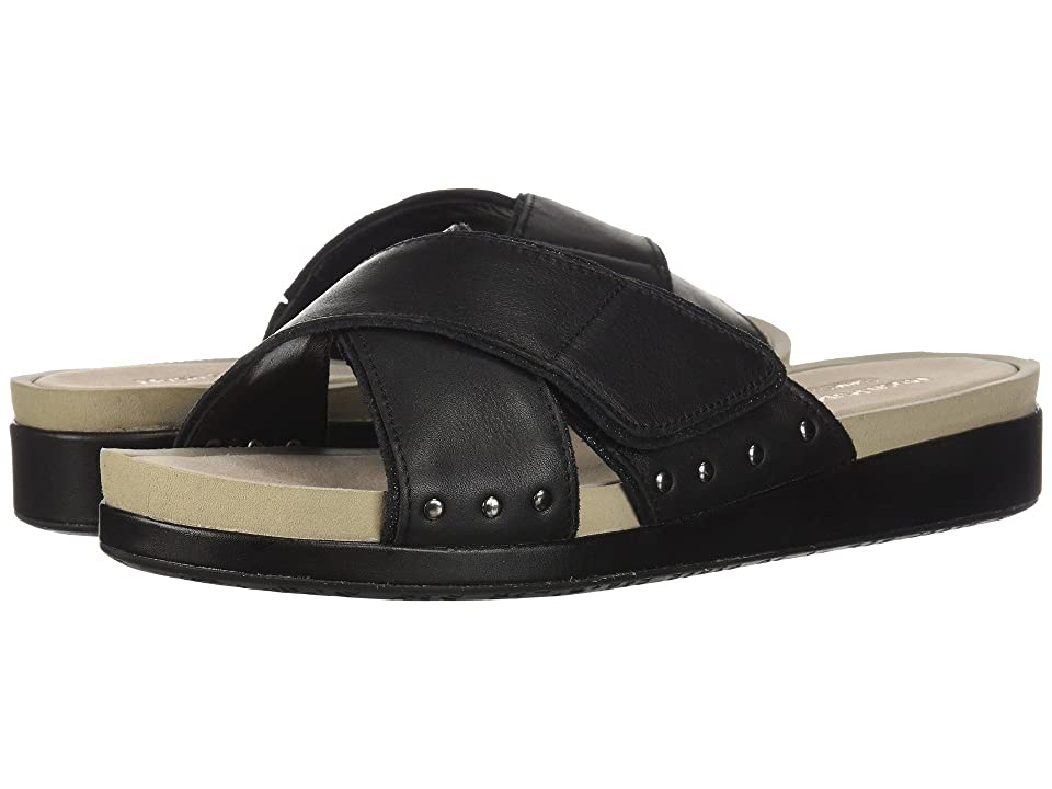 Hush Puppies Chrysta X-Band Slide (Black Leather) Women