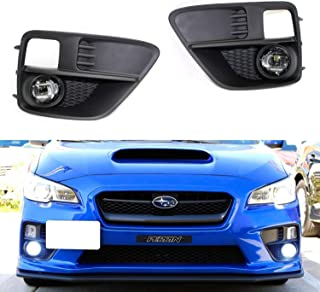 iJDMTOY LED Projector Fog Lights Kit For 2015-2017 Subaru WRX or Sti, Includes (2) 15W High Power CREE XB-D LED Fog Lamps, Pair of Matte Finish Garnish Bezels & Wiring Harness