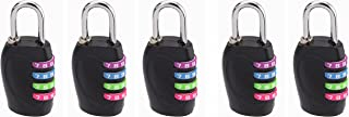 Eilin 4 Digit Combination Padlocks Combination Lock, Suitable for School、Home、Office、Storage Lockers、Gym Lockers、Drawers、Cabinets、Toolboxes、Luggage Suitcase Baggage Locks (5 pack)