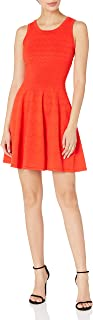 MILLY womens Degrade Chevron Flare Dress Dress