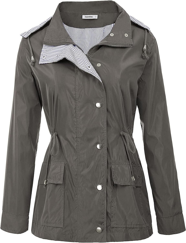 JASAMBAC Bombing free shipping Rain Jacket Women Outstanding Hooded Waterproof Lightweigh Raincoat