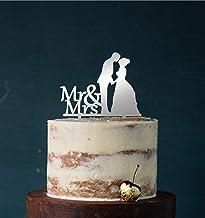 edelstahlheini.de Cake Topper, taartsteker, taartfiguur acryl, taartstandaard - kleurkeuze - etagère bruiloft bruidstaart...