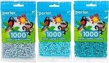 Perler Bead Bag 1000, 3-Pack - Mist, Sky & Lagoon